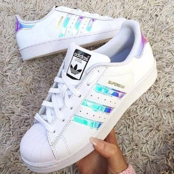 on sale dafed a5c7e 20) Adidas Superstar Holographic Attractive Sport Shoes
