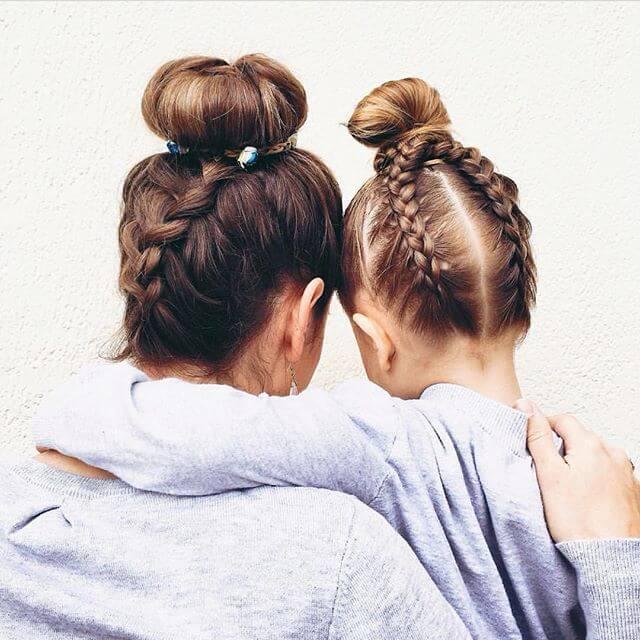 Мама и я Updo косы