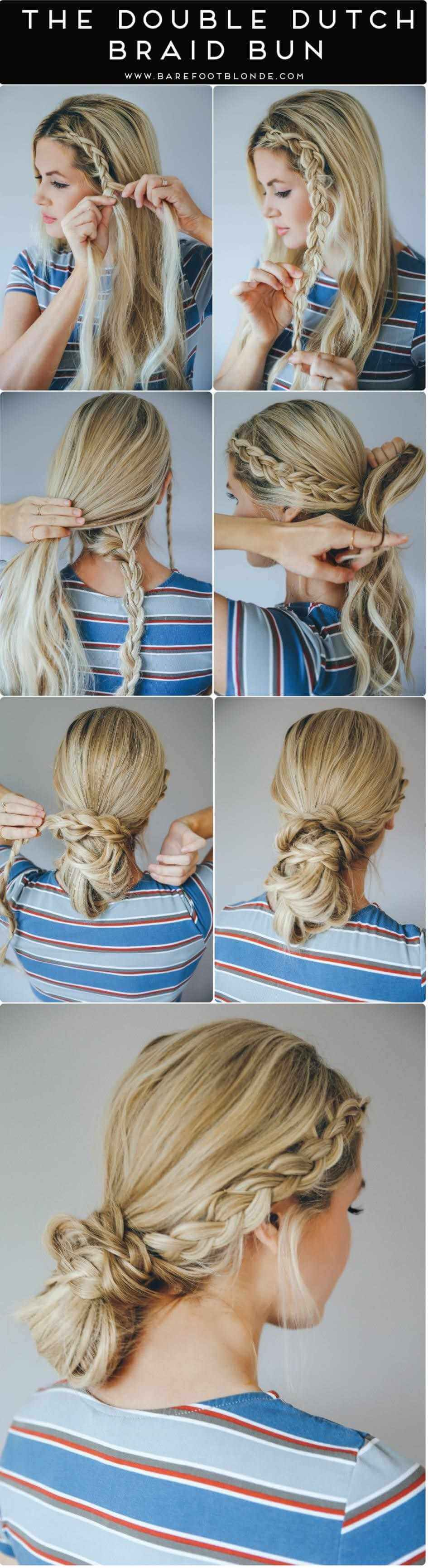 Quick and Elegant French Braid Bun