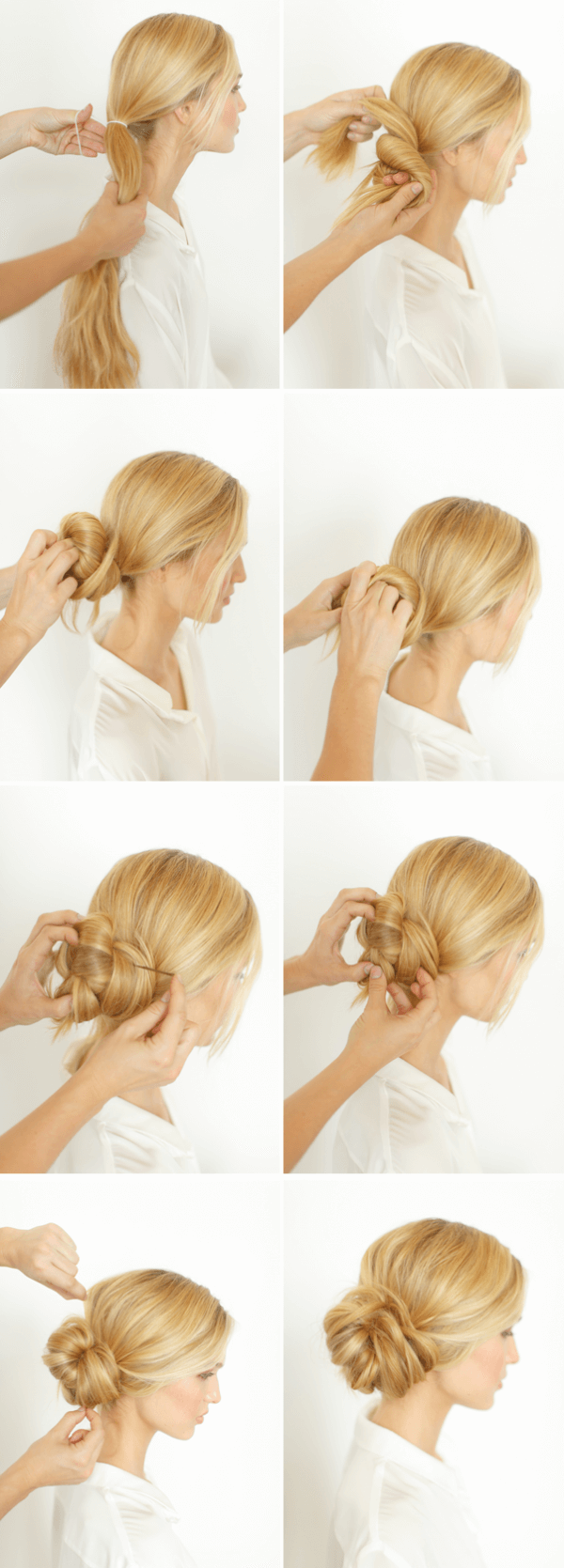 Amazing Simple Low Knot Chignon