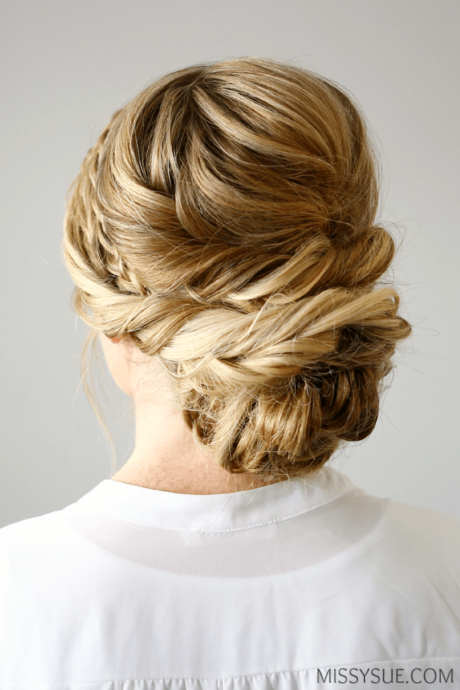 Gorgeous Layered Braid Updo for Long Hair
