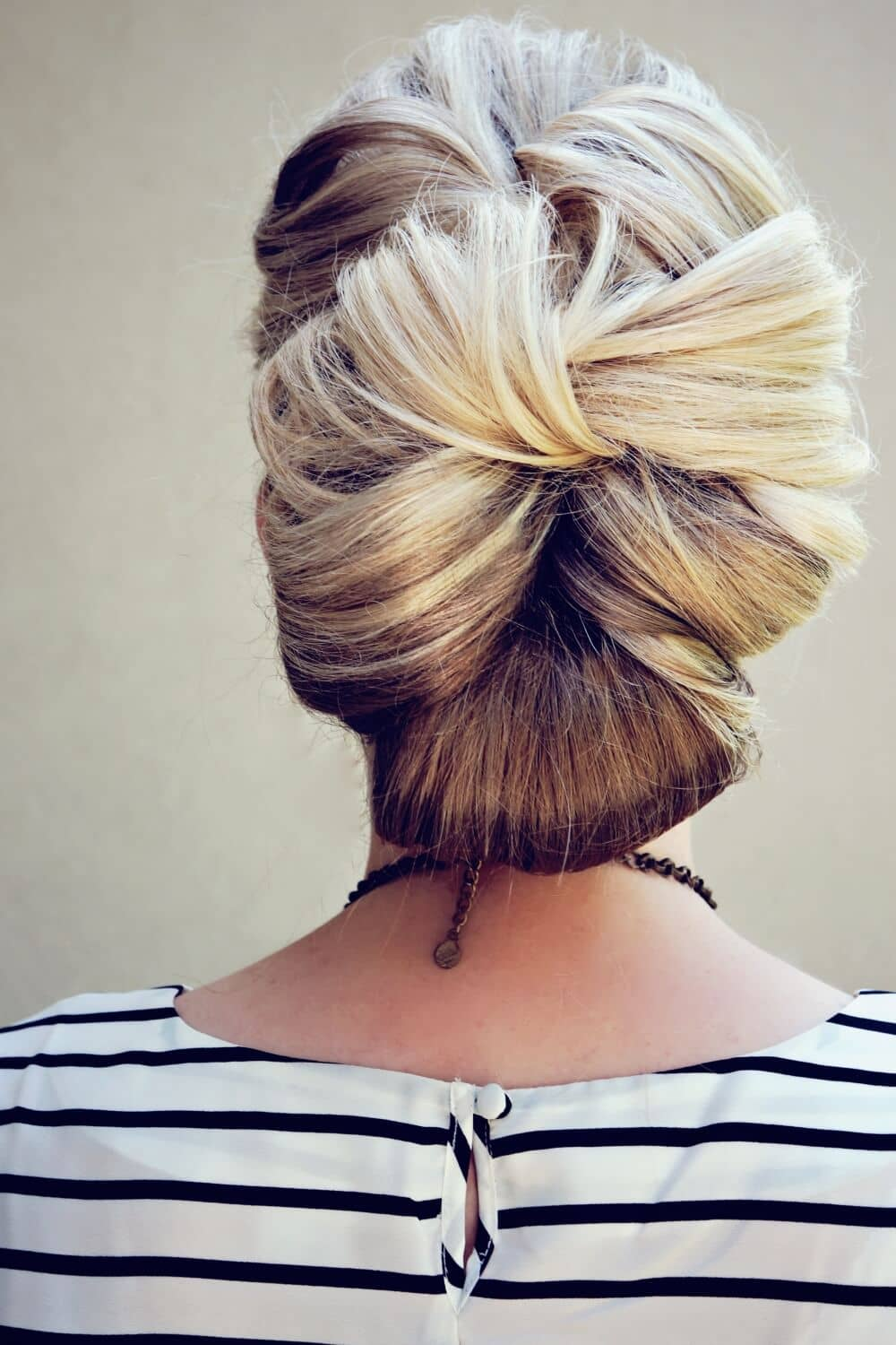 Intricate Updo With Bow Bun Styles