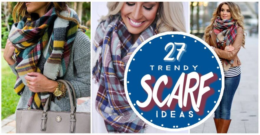 8a63e9f70bcc 27 Trendy Fall Outfits With Scarves
