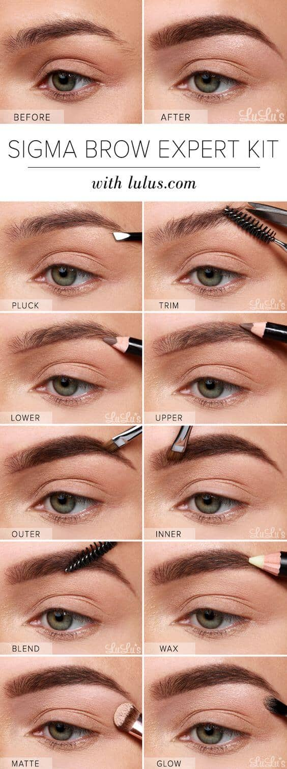 Runway Ready Long Power Brow Look