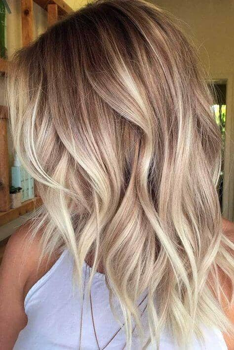 You can never go wrong with an icy balayage