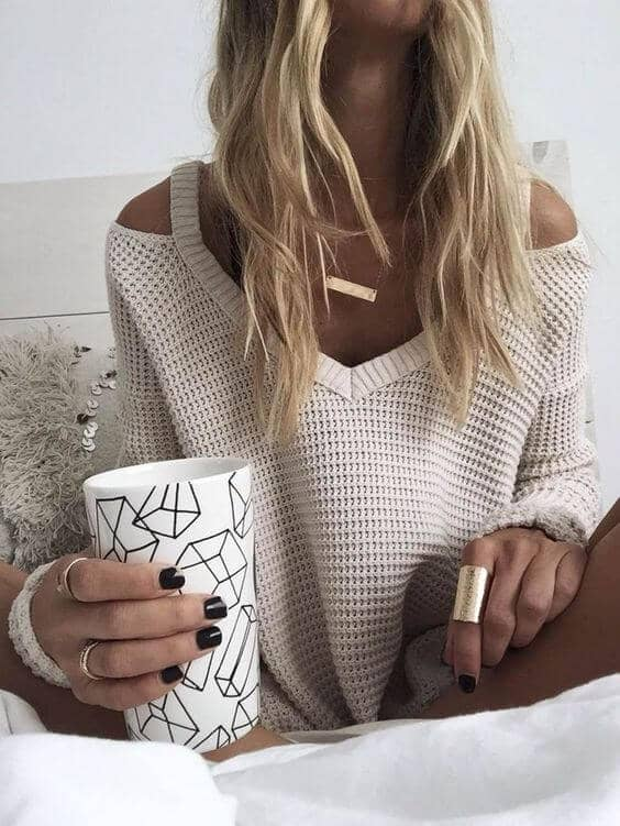 The Go To Off The Shoulder Fall Outfit