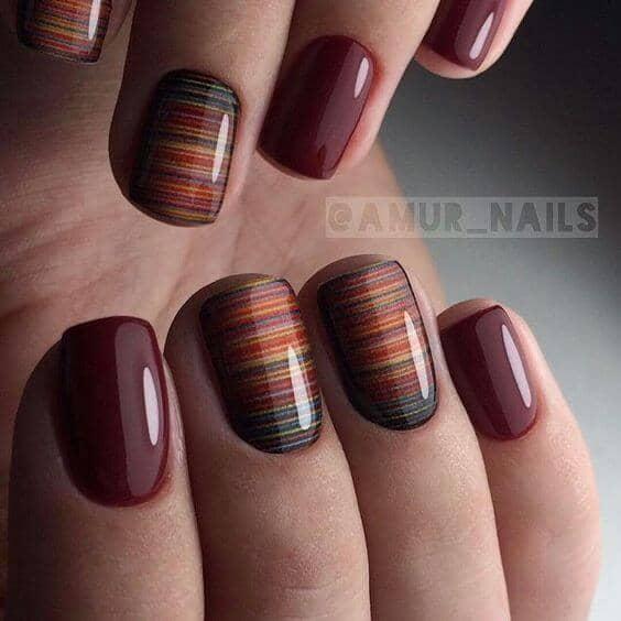 4) Linear Nail Designs Everyone Will Wonder How - 27 Fall Nail Designs To Jump Start The Season