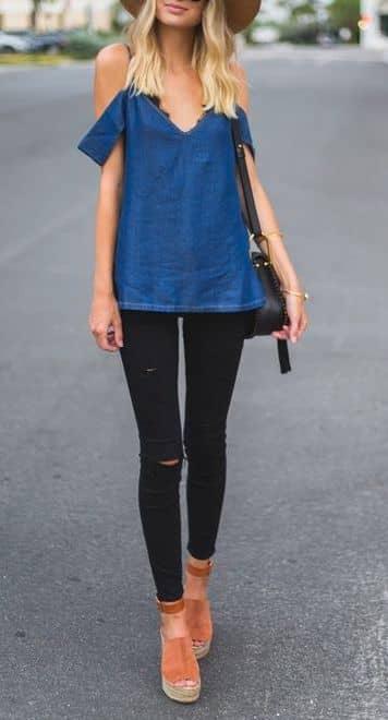 Delightful and Dainty Black Jeans Wardrobe
