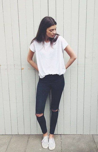 No-Rush Black Jeans Outfit