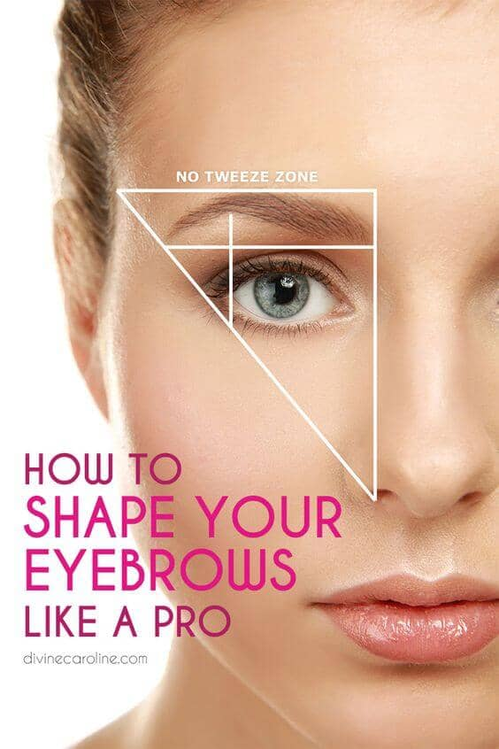 The Triangle Method of Eyebrow Shaping