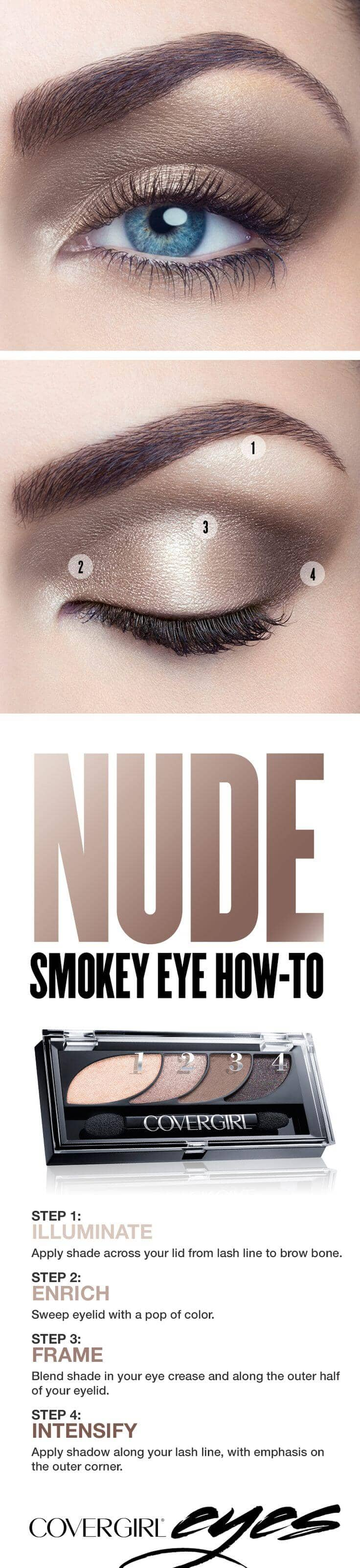 Nude Hued Smokey Eye Tutorial