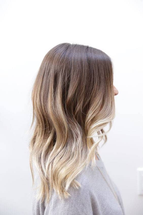 Barely there ombre with face framing layers
