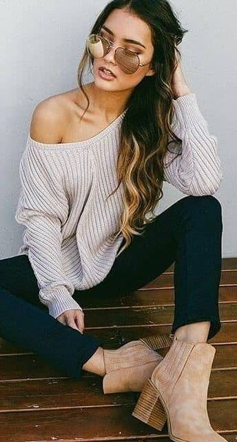 Ankle Boots And Chunky Sweaters