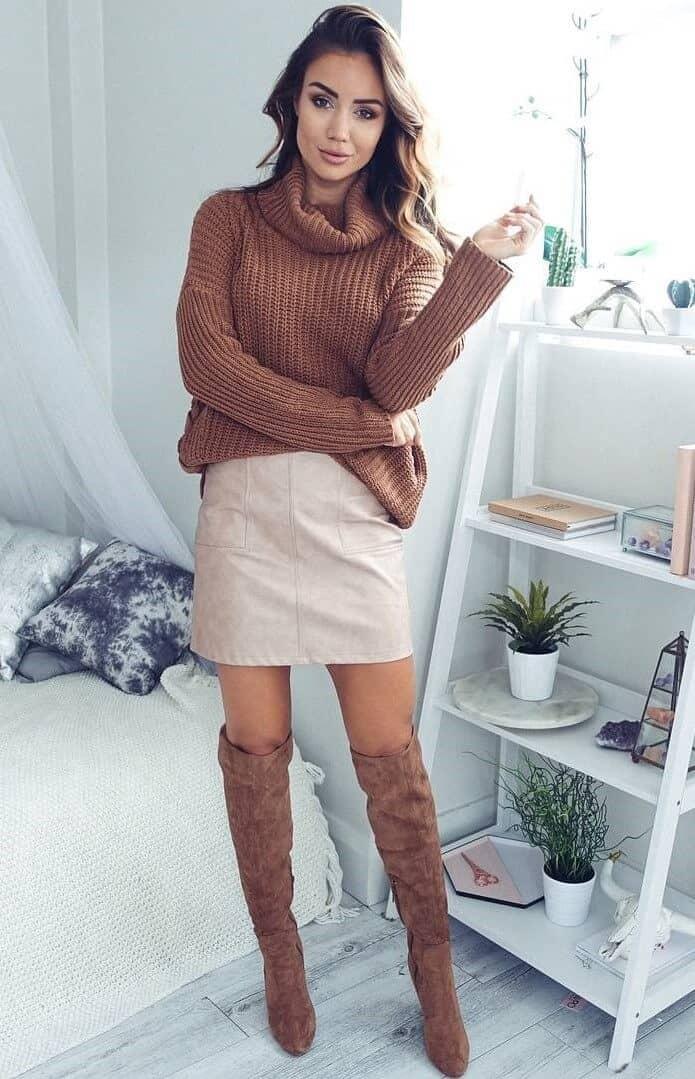Classic Neutral Miniskirt