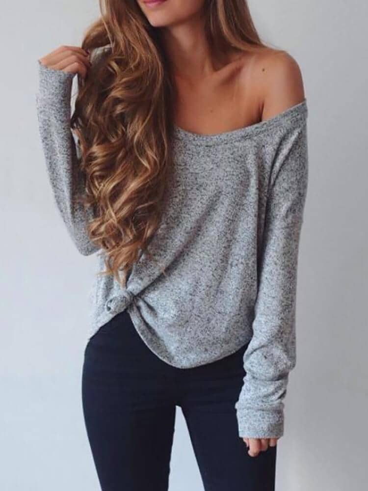 Off The Shoulder Gray