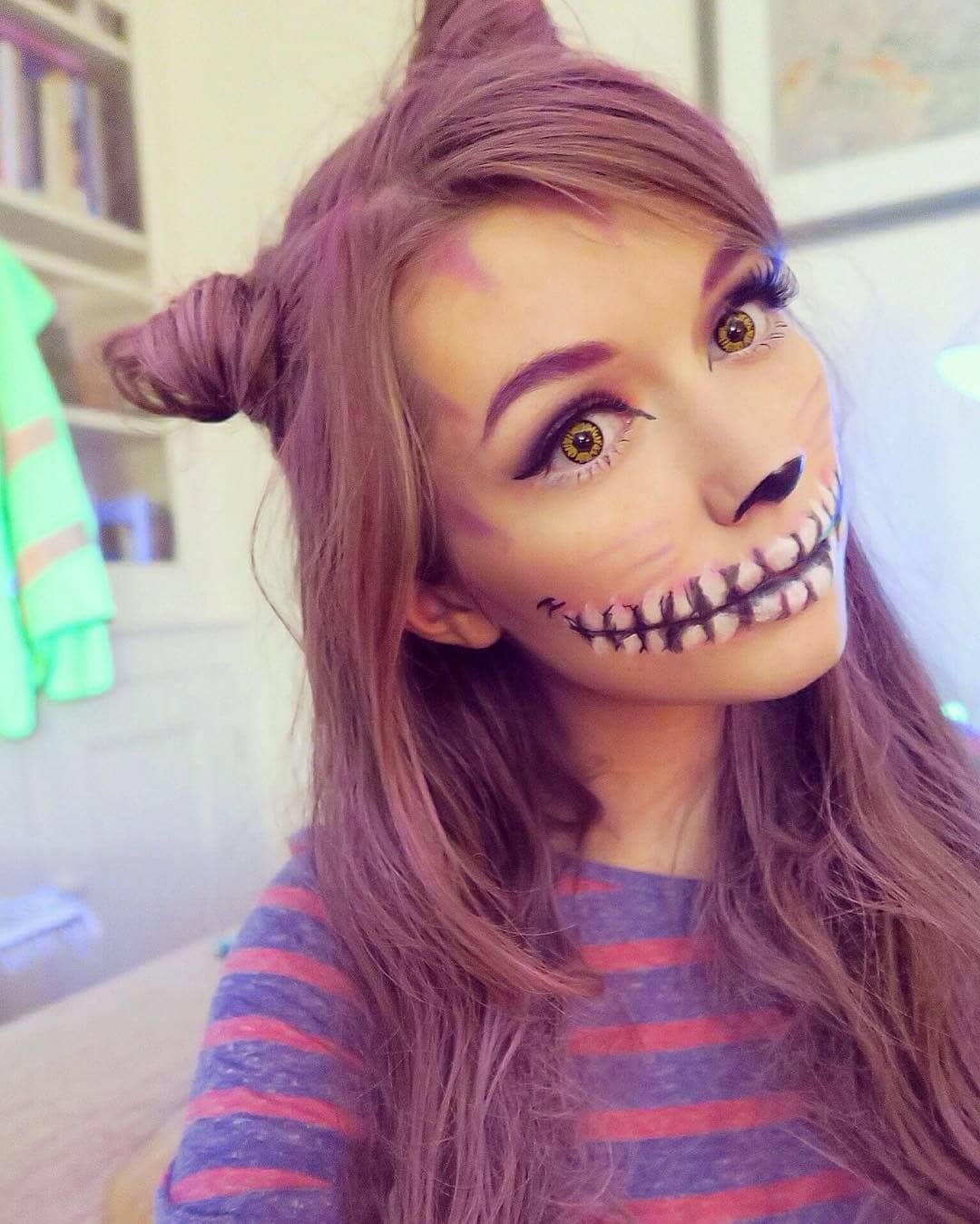 Smiley and Skeletal Cat-Girl