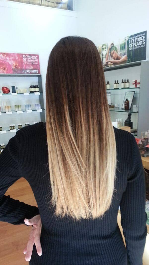Silky straight bob with extra grown out roots