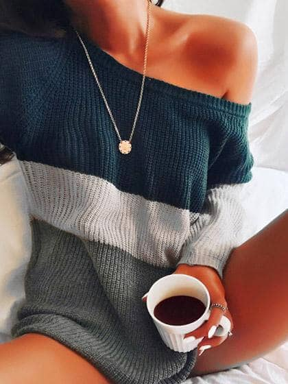 All You Need is Coffee And Off The Shoulder Sweaters
