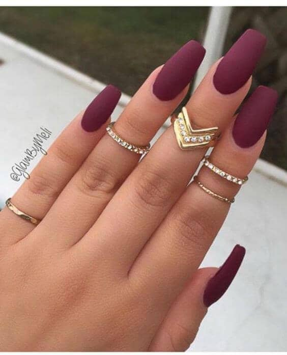 Long and Matte Nails for Fall