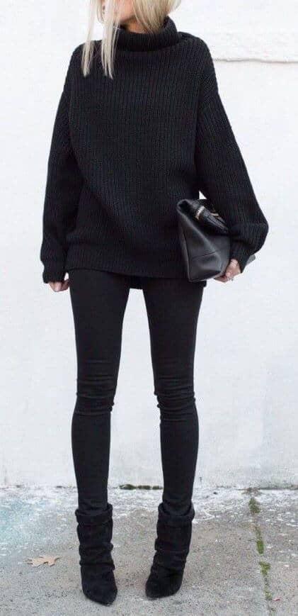Flashy in Black & Black Jeans Combo