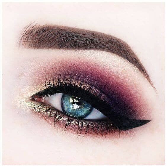 Plum, Gold and Cat Eye Oh My