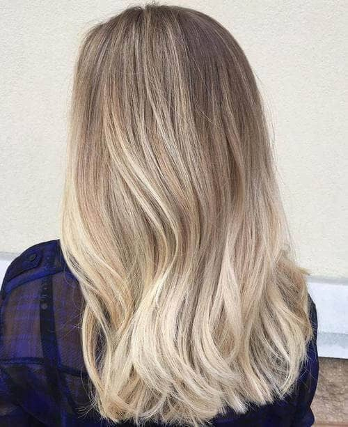 Cool Minimalist Ombre Blonde Color