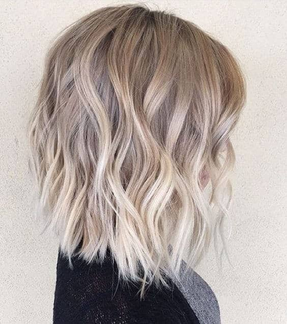 Cute Short Platinum Ombre Choppy Bob
