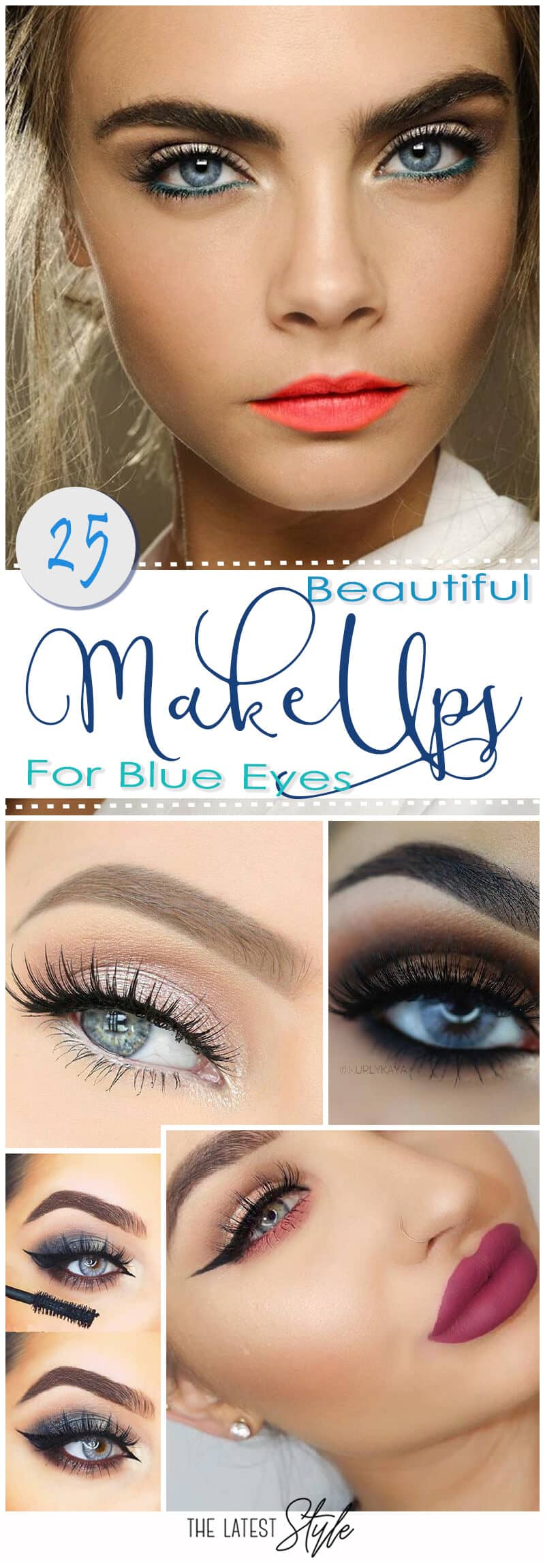 25 Beautiful Blue Eye Makeups to Make Your Eyes Pop