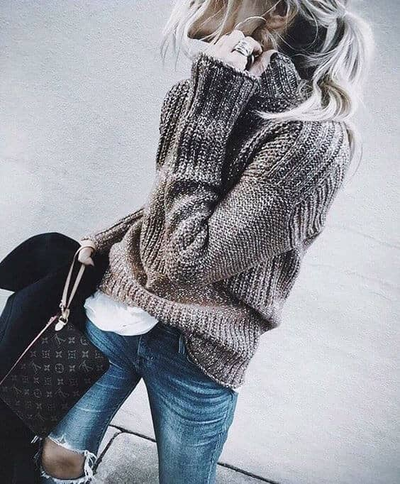 The Perfect Brown Sweater