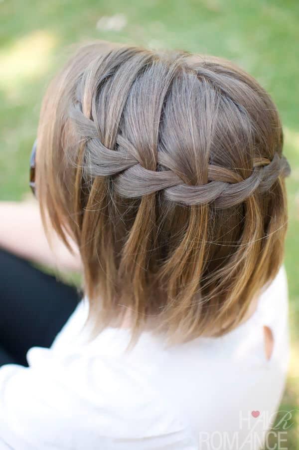 Waterfall Braid Hairstyle for Short Hair