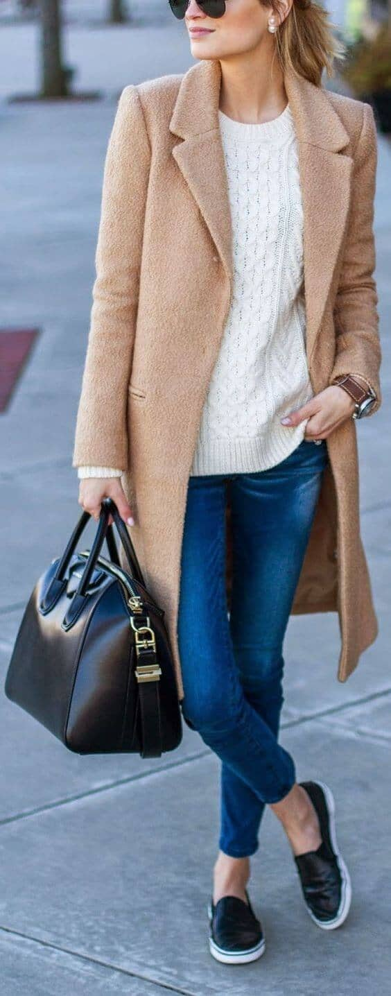 Relaxed, Warm, Causal; Camel Coat