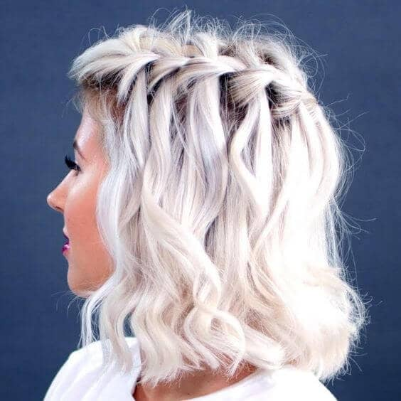 Wavy Waterfall French Braid