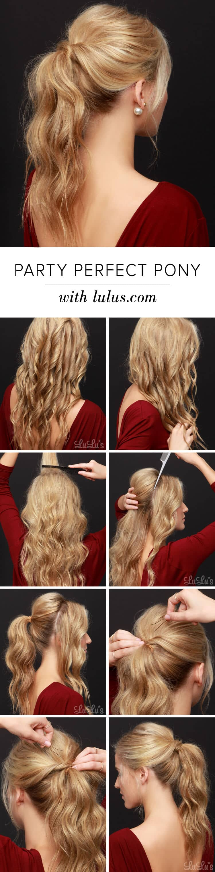 Wavy Party Perfect High Ponytail