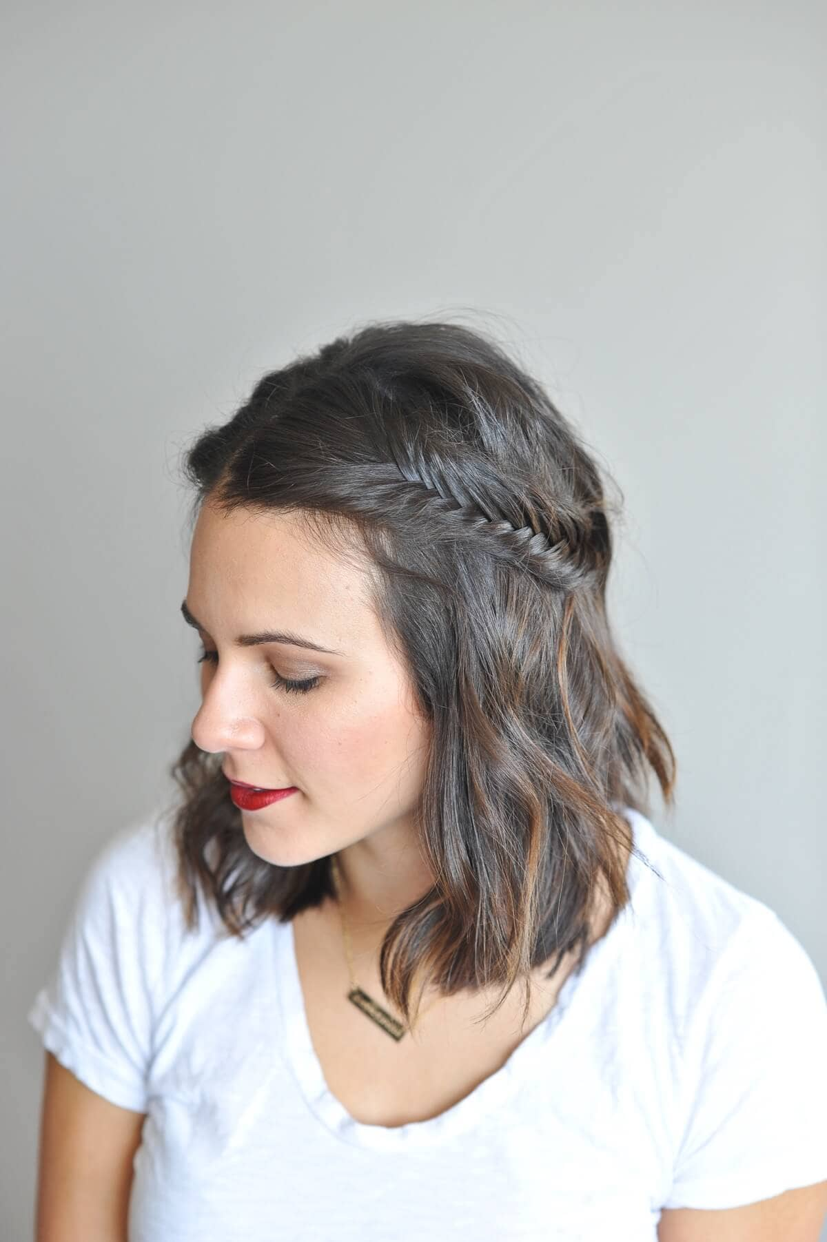 Romantic Half-Up Fishtail Look