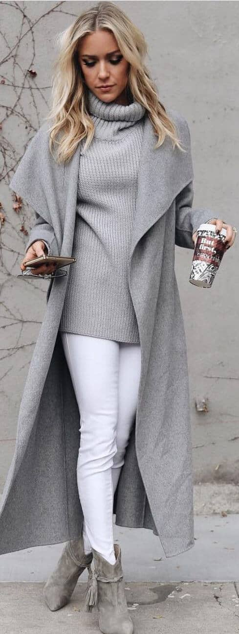 Turtle Neck Sweaters And Coffee