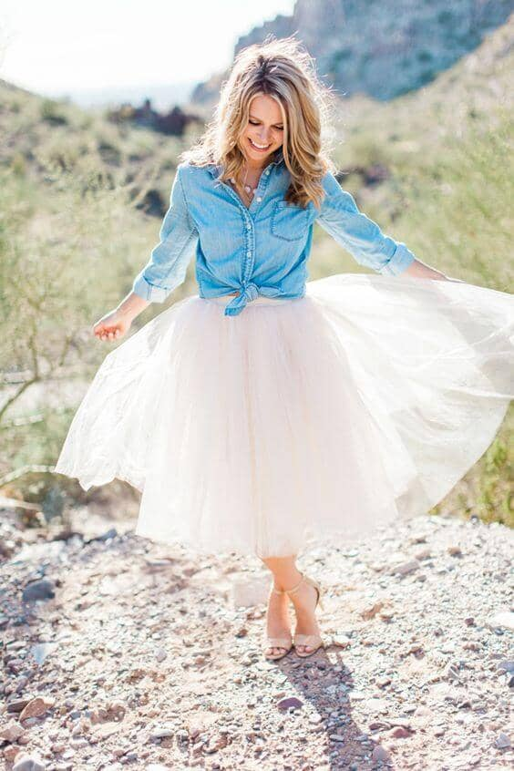 Absolutely Stunning Tulle Skirt Outfit