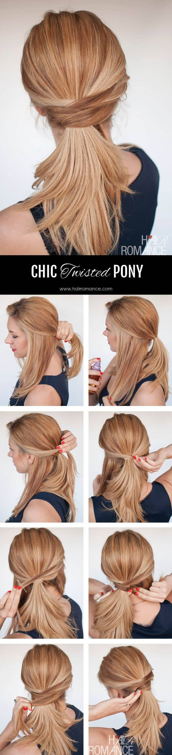 Easy Chic Twisted Pony Tutorial