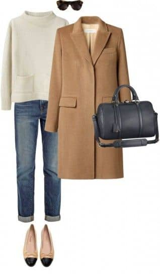 Vintage Look Camel Coat Outfit