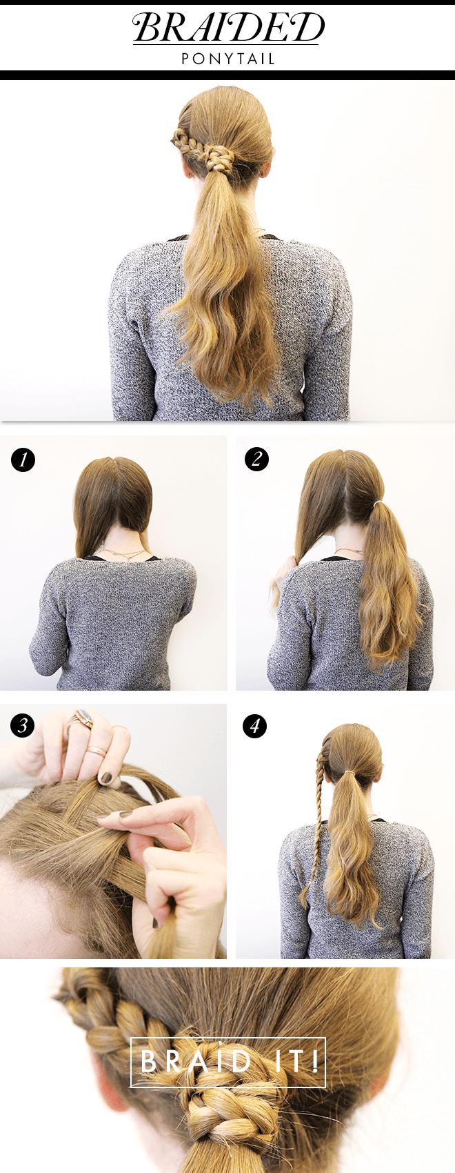 Wrap Around Braided Ponytail Idea
