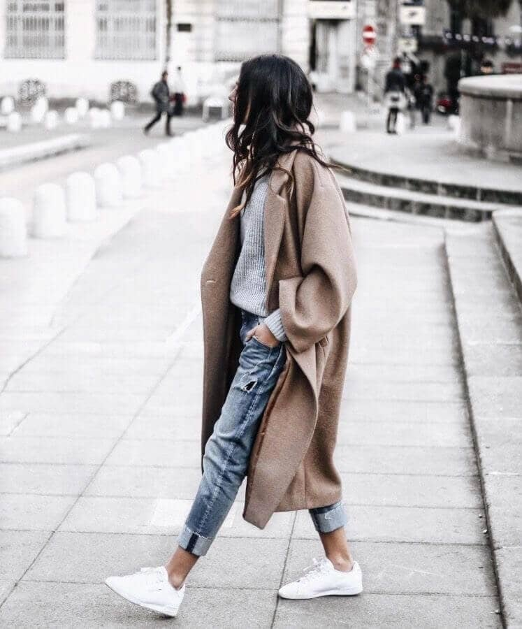 Baggy Camel Coat Modern Aesthetic