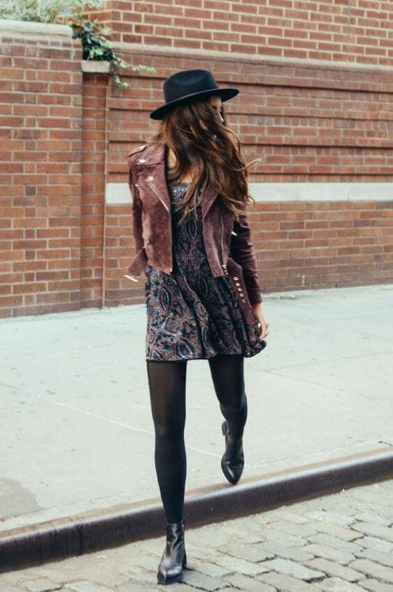 Black Tights And Paisley Dresses