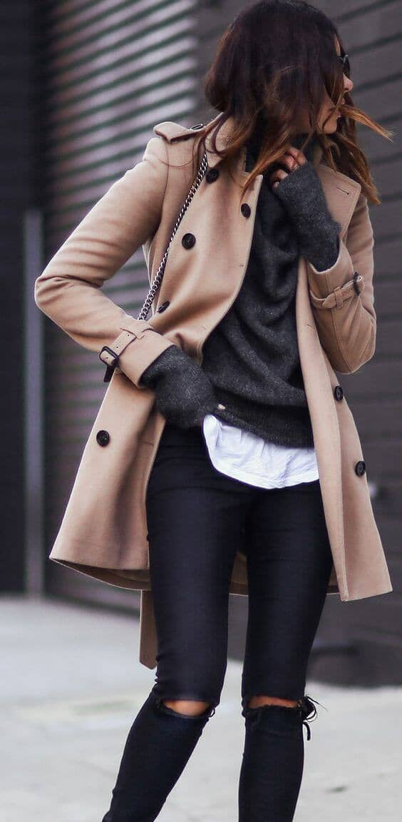 Camel Colored Winter Coat