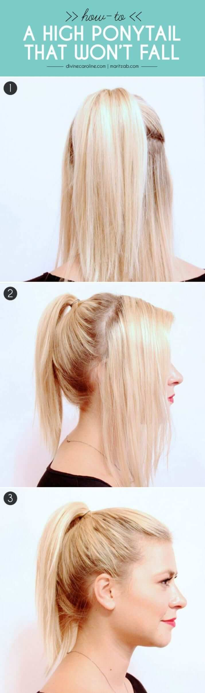 Stay Put High Ponytail Tutorial