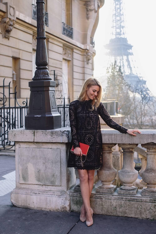 Romantic French Mod Mini Dress