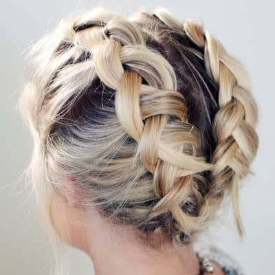 Chunky Double French Braids