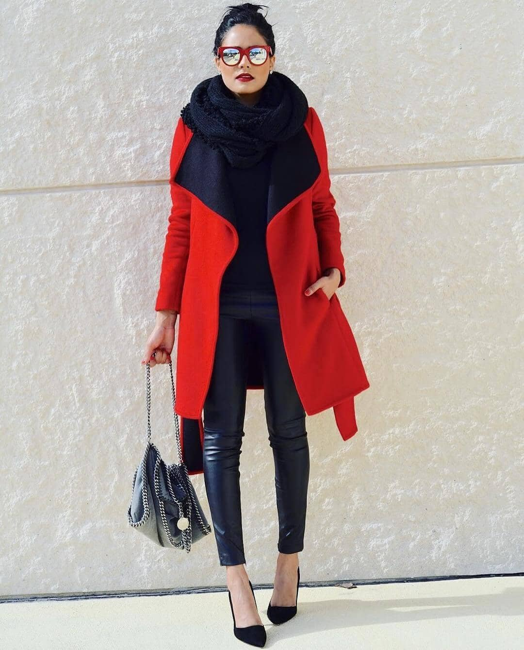 Bundled up with Splashes of Red