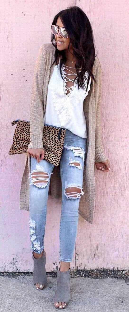 Ripped Jeans For Date Night