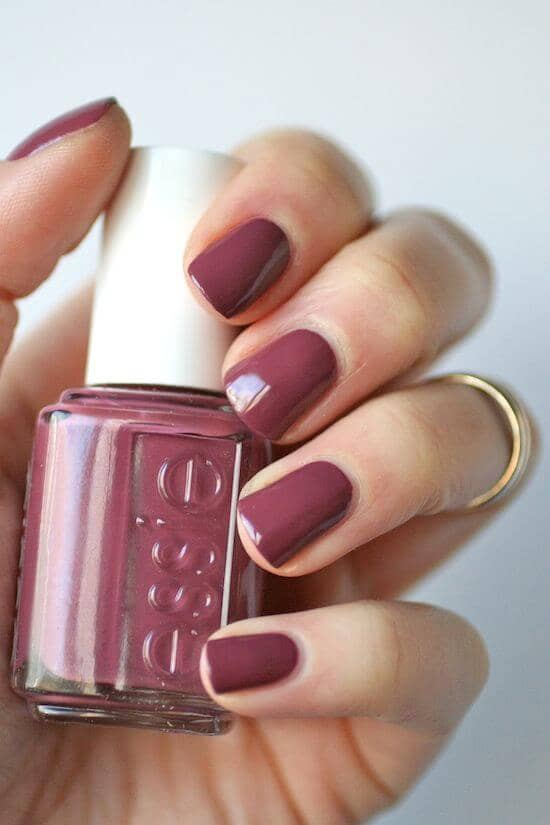 Mature Maroon Nails