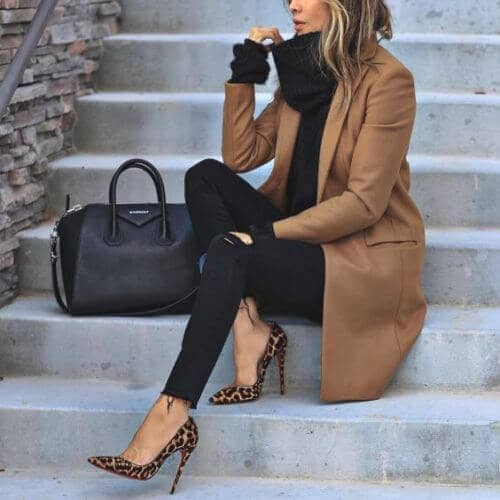 Winter Sexy; Heels and Coat