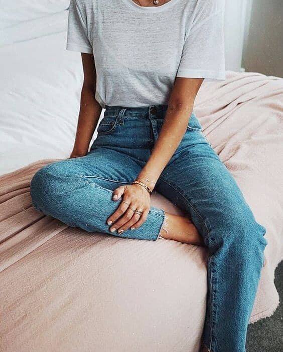 Comfy Tee And Old Jeans